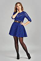 Стильное платье с полупрозрачными полосками, фото 1