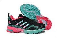 Кроссовки женские беговые Adidas Marathon (адидас, оригинал) розово-голубые