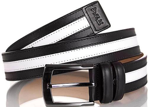 Мужской интересный кожаный ремень Y.S.K. (УАЙ ЭС КЕЙ) SHI4001-2-11