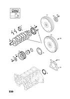 Шайба прижимная коленвала (полукольцо, направляющая коренных вкладышей) 2,16мм Y17DT Z17DT Z17DTL Z17DTJ Z17DTH Z17DTR A17DT A17DTC A17DTE A17DTI