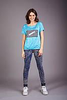 Легкая футболка из шелковистой вискозы, фото 1