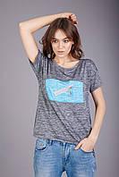 """Женская футболка  вырез """"лодочка"""", фото 1"""