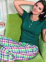 Женская хлопковая пижама с бриджами