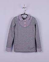 Трикотажная рубашка - обманка для девочки, BOGI (Божи), серая
