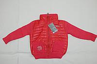 Куртка детская 2-3-4 года вязанный рукав