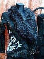 Кофта женская, воротник- мех, черная  125808 В наличии Цена розн: 107.00 грн. Цена опт: 90.00 грн.