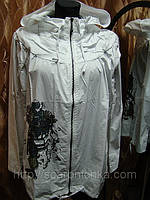 Ветровка белая с рисунком S, M, L. куртки оптом и в розницу