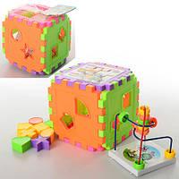 Игра 801-14 куб логика, сортер, фигурки 8 шт., лабиринт