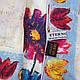 Женский креативный шелковый шарф 170*50,5 ETERNO (ЭТЕРНО) ES2711-15, фото 3