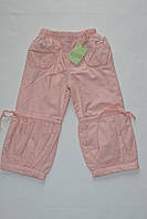 Штаны коттоновые для девочек 1-2-3-4 года утепленные
