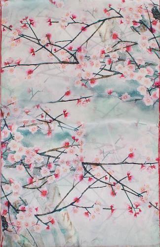 Красивый женский шелковый шарф 170*52 ETERNO (ЭТЕРНО) ES2711-27