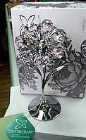 """Статуэтка с кристаллами с стразами Swarovski """"Цветок""""(нежно-розовые кристаллы). Шикарная!"""