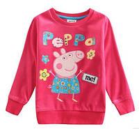Розовый велюровый свитер для девочки Свинка Пеппа