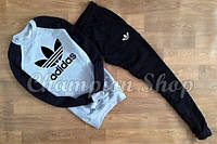 Серо-черный костюм Adidas, мужской