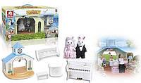 """Домик вилла для зверят """"Свадебная церемония"""" Happy Family с кроликами и аксессуарами"""