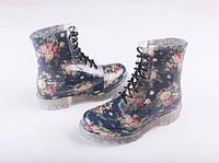 Резиновые ботинки с цветочным