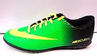 Кроссовки подростковые Nike Mercurial футбольные салатовые с черным NI0089