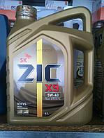 Синтетическое моторное масло ZIC X9 5W40 (старое название ZIC XQ 5w40) (4 литра) Сертификат