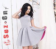 Платье женское из двухстороннего неопрена - Серый