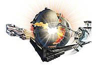 Трек Хот Вилс Звездные Воины Звезда смерти (Hot Wheels Star Wars Death Star Battle Blast Track Set)