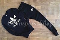 Мужской спортивный костюм Adidas, черный, материал - хлопок