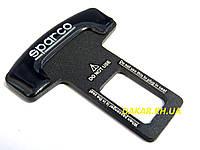 Заглушка ремня безопасности Sparco чёрная
