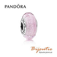 Pandora шарм ПЕРЕЛИВАЮЩЕЕСЯ РОЗОВОЕ МУРАНСКОЕ СТЕКЛО №791650 серебро 925 Пандора оригинал