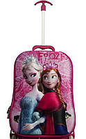 Детский чемодан на 6 колесах Анна и Эльза