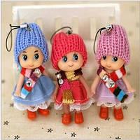 Мини кукла с шарфом, подвеска на сумочку, брелок