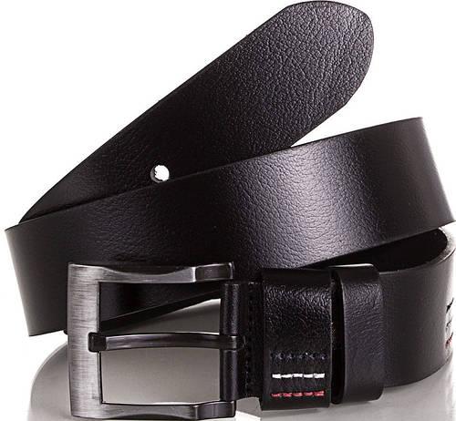 Солидный мужской кожаный ремень Y.S.K. (УАЙ ЭС КЕЙ) SHI724-2 черный