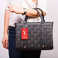 Компактная черная сумочка женская молодежная №1345st