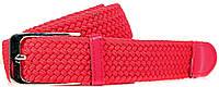 Женский яркий плетеный текстильный ремень LAZAR (ЛАЗАР) CFL35T1SH6 Красный