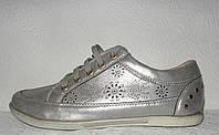 Кеды женские повседневные цвета серебро