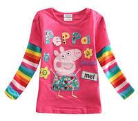 Детская футболка с длинным рукавом Свинка Пеппа
