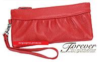 Кожаный женский кошелёк. Кожа. Красный.