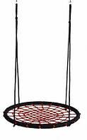 Качели гнездо аиста 120 см. черный ― красный