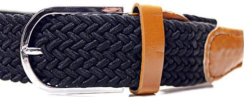 Женский стильный плетеный текстильный ремень LAZAR (ЛАЗАР) CFL35T1SH1 черный
