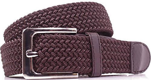 Оригинальный женский плетеный текстильный ремень LAZAR (ЛАЗАР) CFL35T1SH8 коричневый
