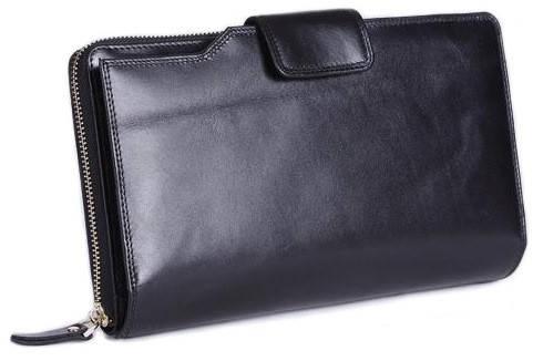 Стильный  клатч из натуральной кожи MS Collection Ms031A черный