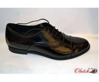 Туфли-оксфорды женские Украина лаковая кожа черные Uk0024