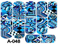 Слайдер дизайн (водная наклейка) для ногтей А-048
