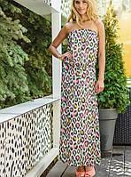 Платье в пол из шифона | Яркий леопард макси sk