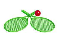Тенис детский с пластмассовым мячиком 0308 Технок