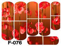Слайдер дизайн (водная наклейка) для ногтей  F-076