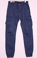 Мужские молодежные джинсы на манжете с накладными карманами по бокам