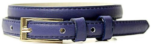 Практичный женский узкий ремень из искусственной кожи LAZAR (ЛАЗАР) CFL1510SH17 синий