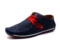 Спортивные туфли Visazh, мужские, натуральная кожа, темно-синие, р. 39 40 41 42 43 44 45, фото 1