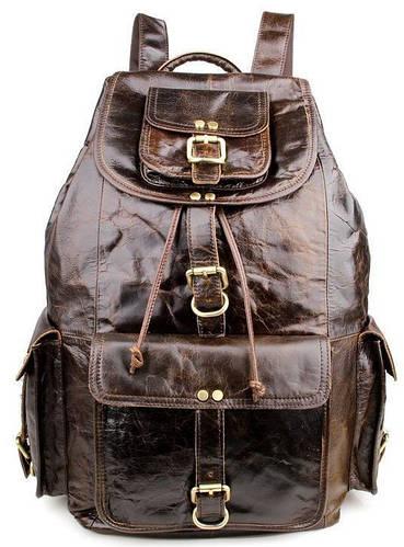 Удобный кожаный мужской рюкзак на 22 л TIDING BAG 7268C