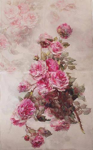 Практичный женский шелковый шарф 175*51 ETERNO (ЭТЕРНО) ES2711-21