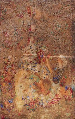 Шелковый замечательный женский шарф 176*51 ETERNO (ЭТЕРНО) ES2711-7